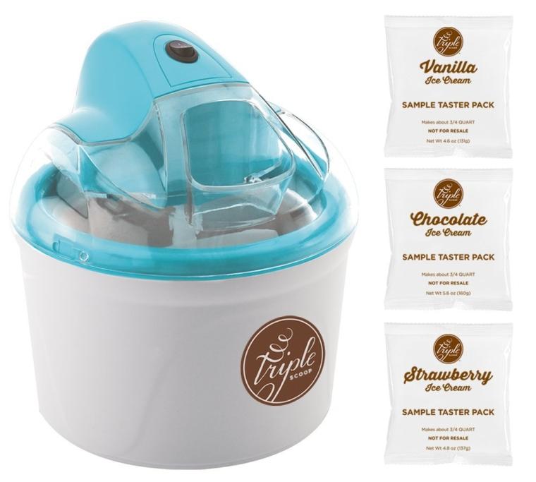 Triple Scoop Premium Ice Cream Maker