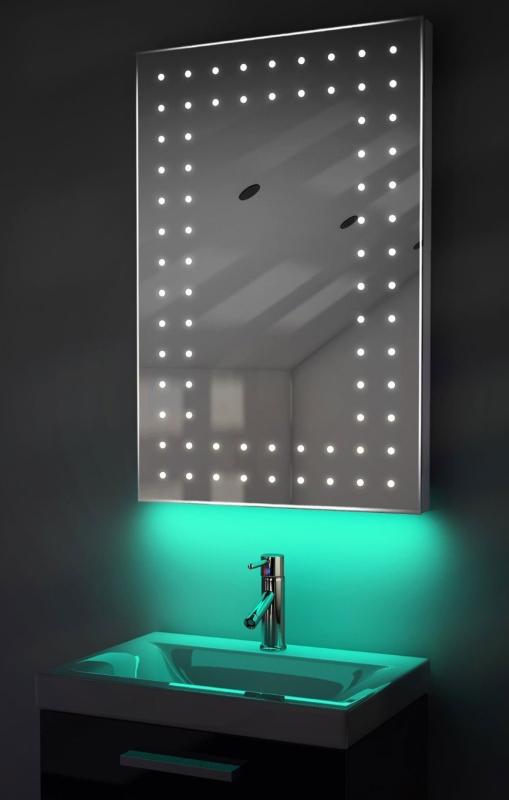 Ultra-Slim LED Bathroom Mirror With Demister Pad & Sensor