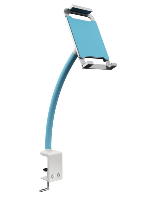 Universal Two Hands Tablet Stand Blue - Kitchen iPad Stand - 360 degree Adjustable iPad Holder
