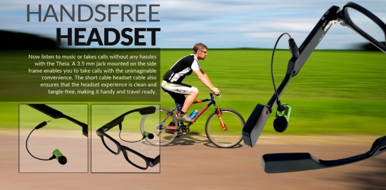 Wearable Video Camera Glasses with Bluetooth Headset & Drive Safe Assist