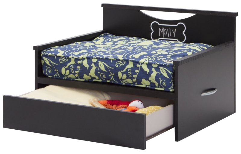 Dog Bed with Storage and Cushion Cover