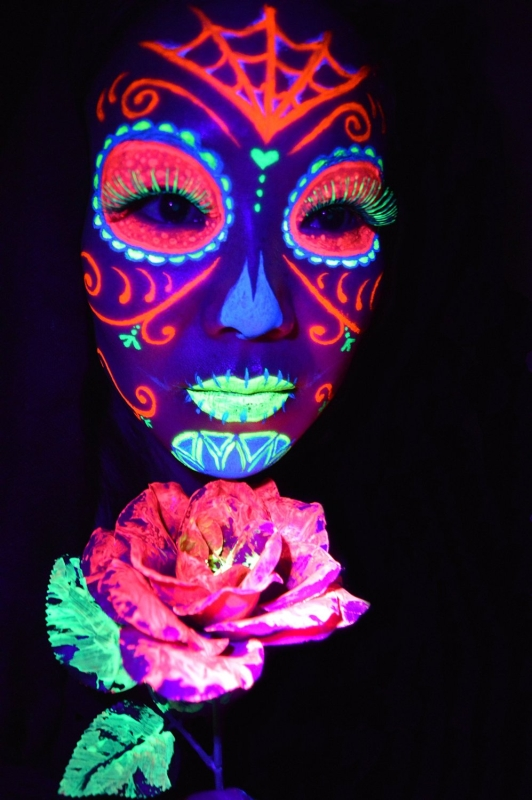 Glo Blacklight UV Paint Kit For Body and Face
