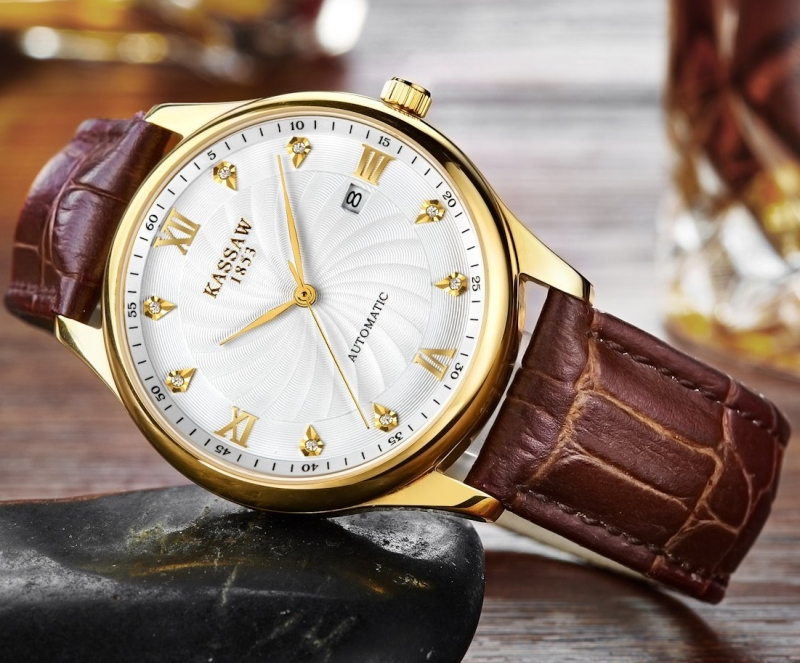 Men's Automatic Mechanical Watches Waterproof Leather Luminous