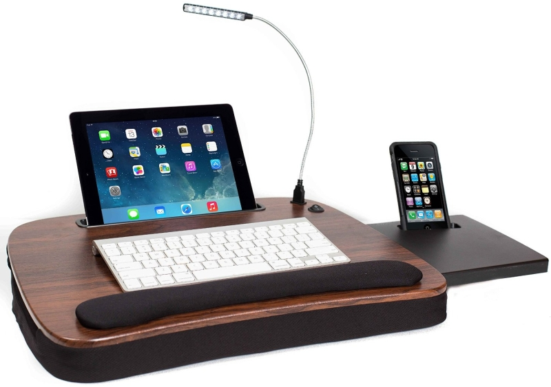 Multi Tasking Lap Desk with USB Light