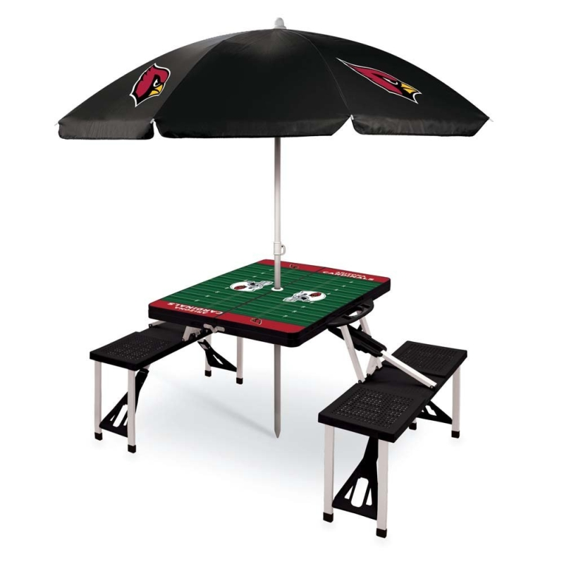 NFL Folding Picnic Table with Umbrella