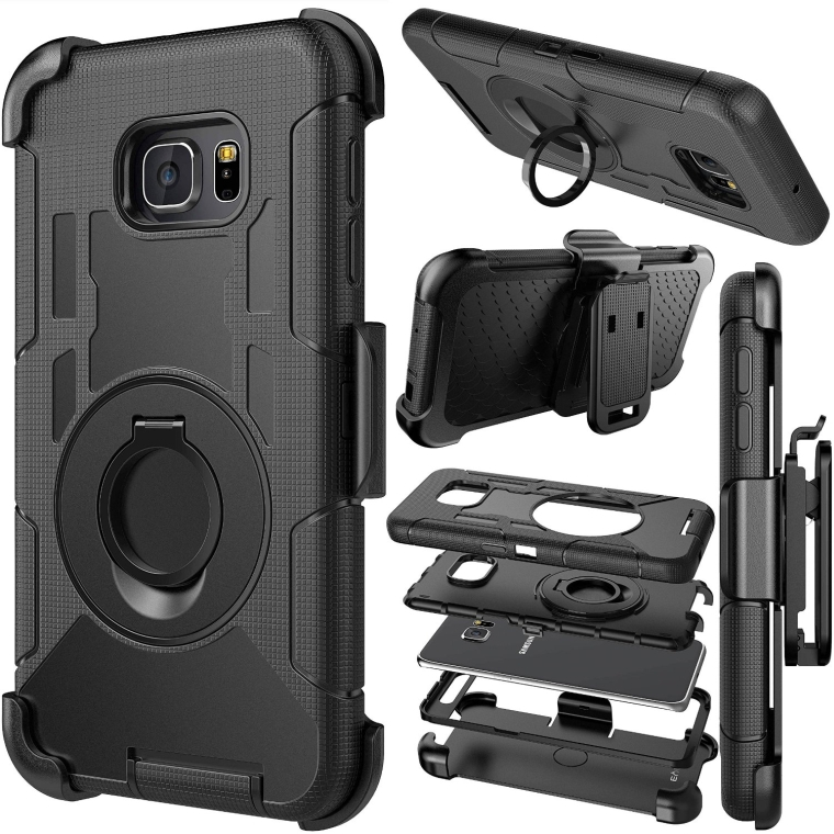 Protective Case Cover with kickstand and Belt Swivel Clip for Samsung Galaxy S6 Edge PLUS case