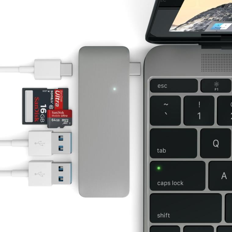 Satechi Type-C USB 3.0 3 in 1 Combo Hub for MacBook 12-Inch