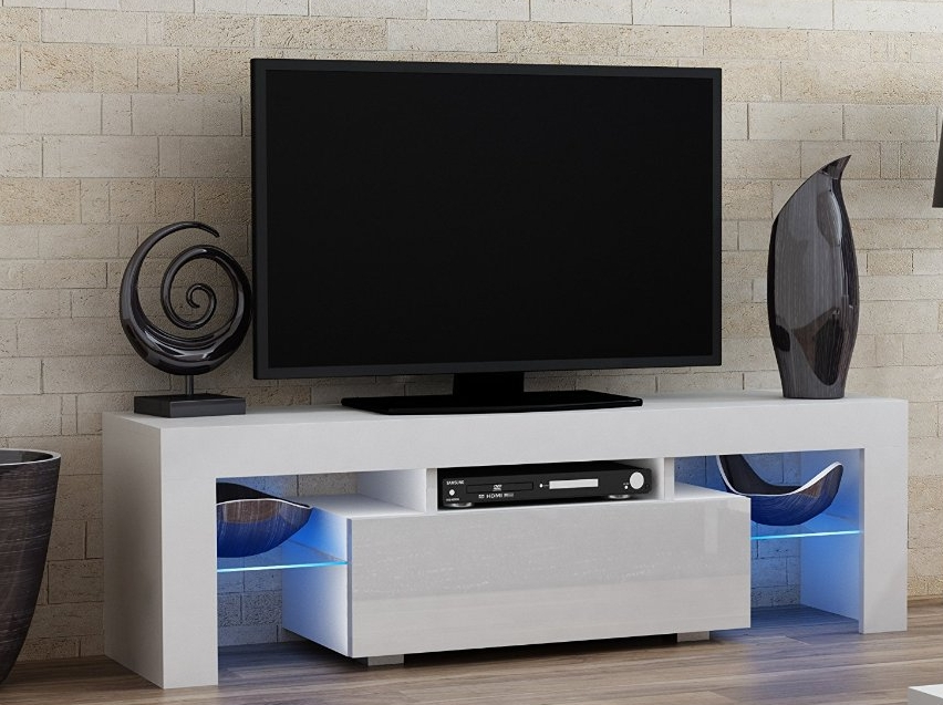TV Stand MILANO 160 White line  Modern LED TV Cabinet