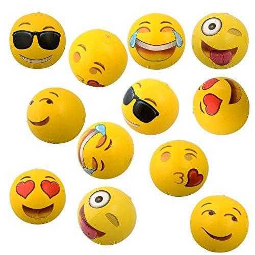 12 Emoji Inflatable Beach Balls
