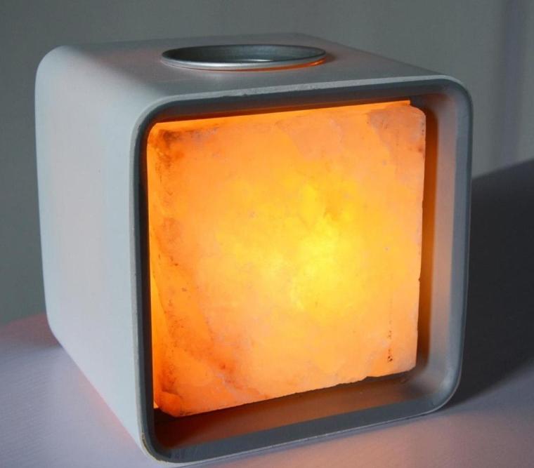 Ascent Himalayan Salt Lamp Natural Crystal Air Purifier and Ionizer