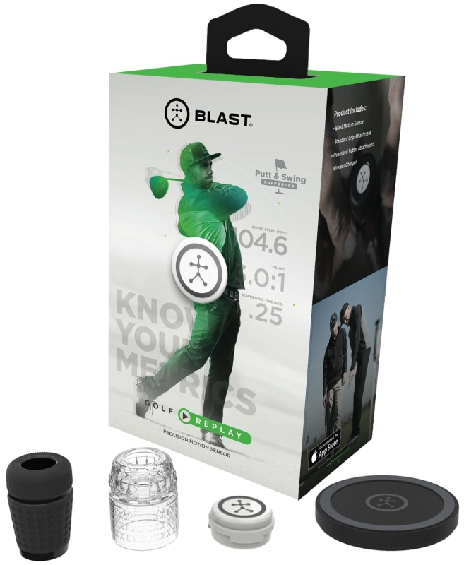 Blast Motion Golf Replay3D Motion Capture Trainer with Smart Video Swing Analysis and Performance Data Overlay