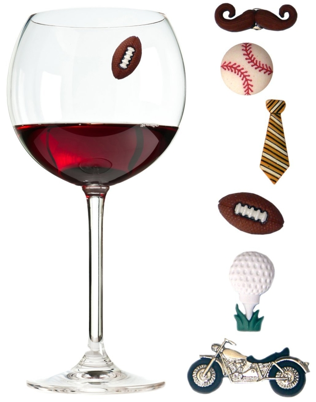 Charmed Wine Glass Charms for Guys