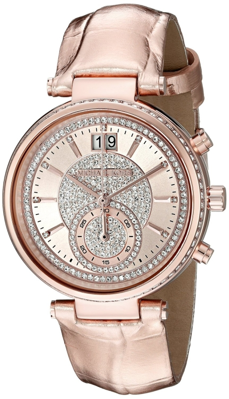 Michael Kors Women's Sawyer Rose Gold-Tone Watch