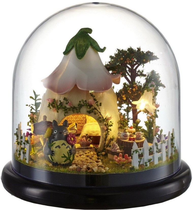 Mini Glassball Wooden Dollhouse Miniature Kit