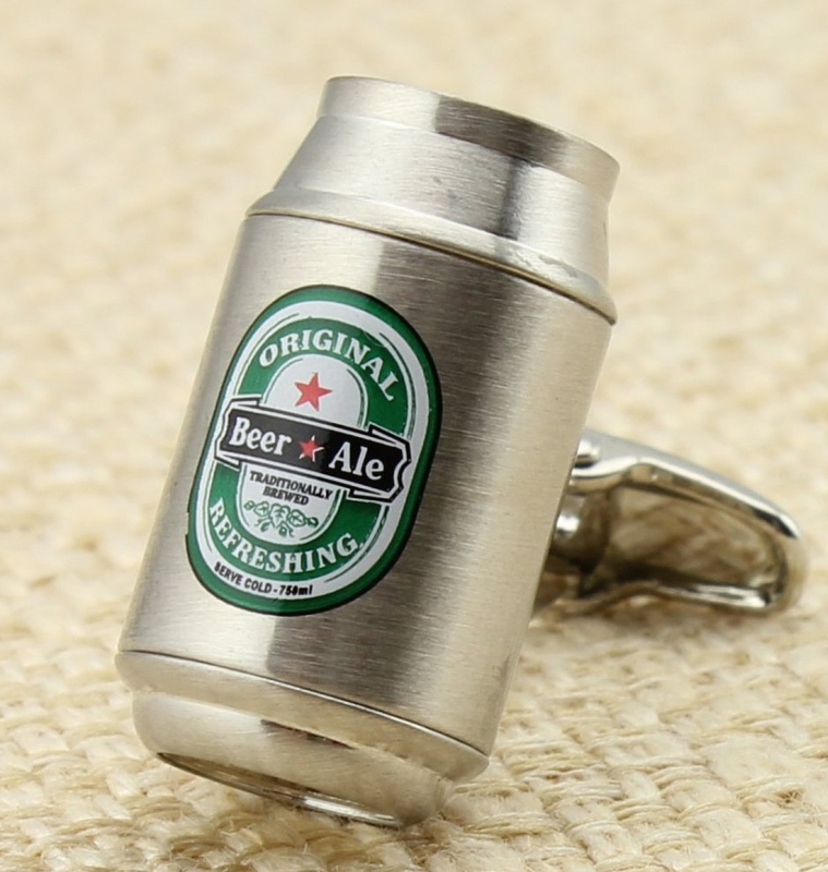 Sunnylink Men's Cufflinks Three Dimensional Beer Can Cuff Links