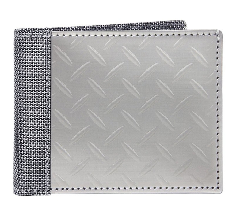Texture Herringbone Bill Fold Wallet
