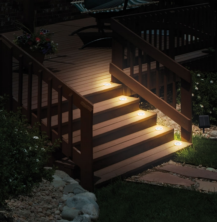 The Flush Mount Solar Stair Lights