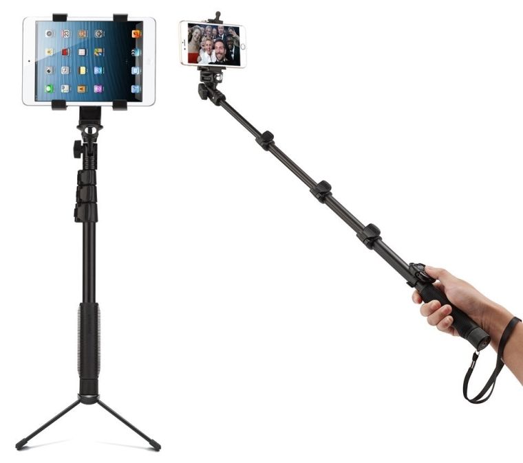 Bluetooth Extendable Selfie Stick with Tripod Stand for Smartphones, Tablets and Video Cameras