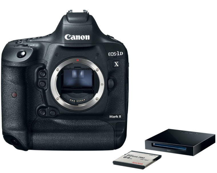 Canon EOS-1D X Mark II Premium Kit with 64GB SanDisk CFast 2.0 Card and ReaderWriter