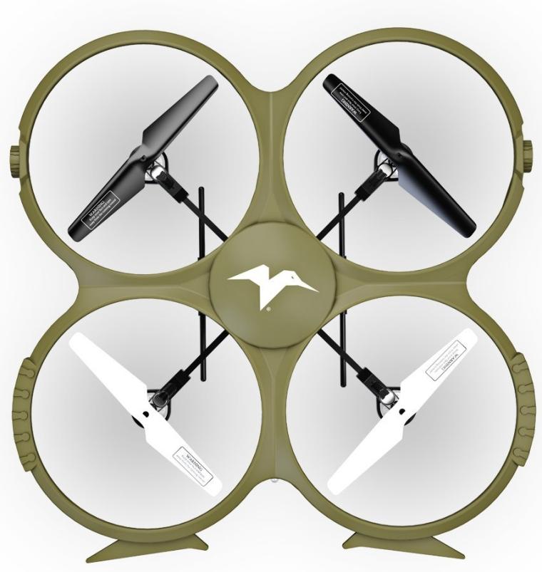 Kolibri Discovery Delta-Recon WiFi U818A Quadcopter Drone Tactical Edition Military Matte Green UDI RC