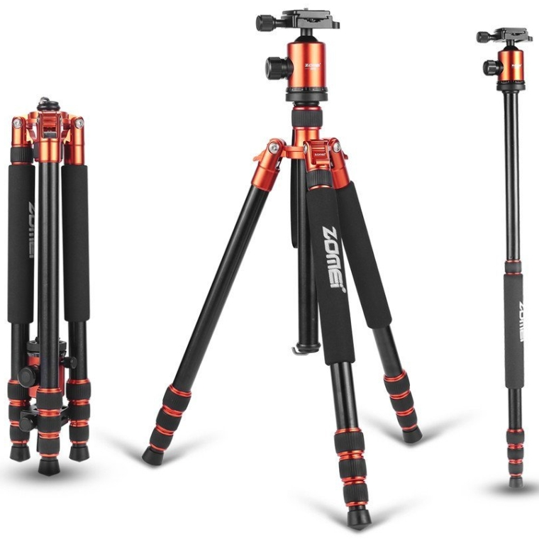 Light Weight Heavy Duty Portable Magnesium Aluminium Travel Tripod Come With Quick Release Plate Ball Head and Carry Case For Canon Sony Nikon DSLR Cameras