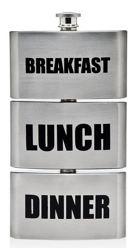 Triple Breakfast Lunch Dinner Drinking Flask