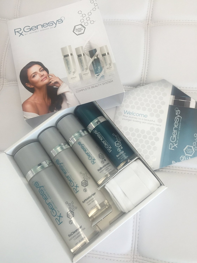 4 Piece Stem Cell Anti Aging Beauty System with Hyaluronic Acid