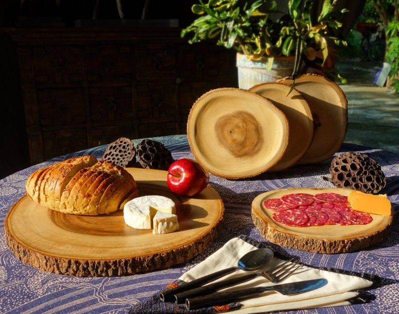 5-piece Reversible Appetizer set made from End-Grain Sustainable Wood