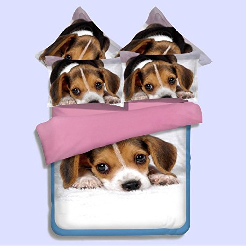 Cute Dog Print Duvet Cover Set Dogs Bedding Set