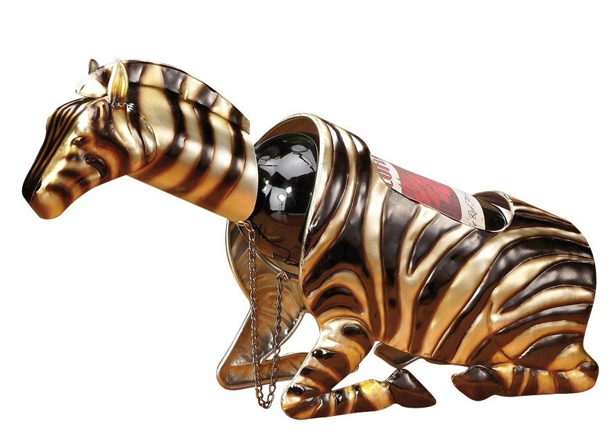 Decoration Wine Bottle Holder-Zebra
