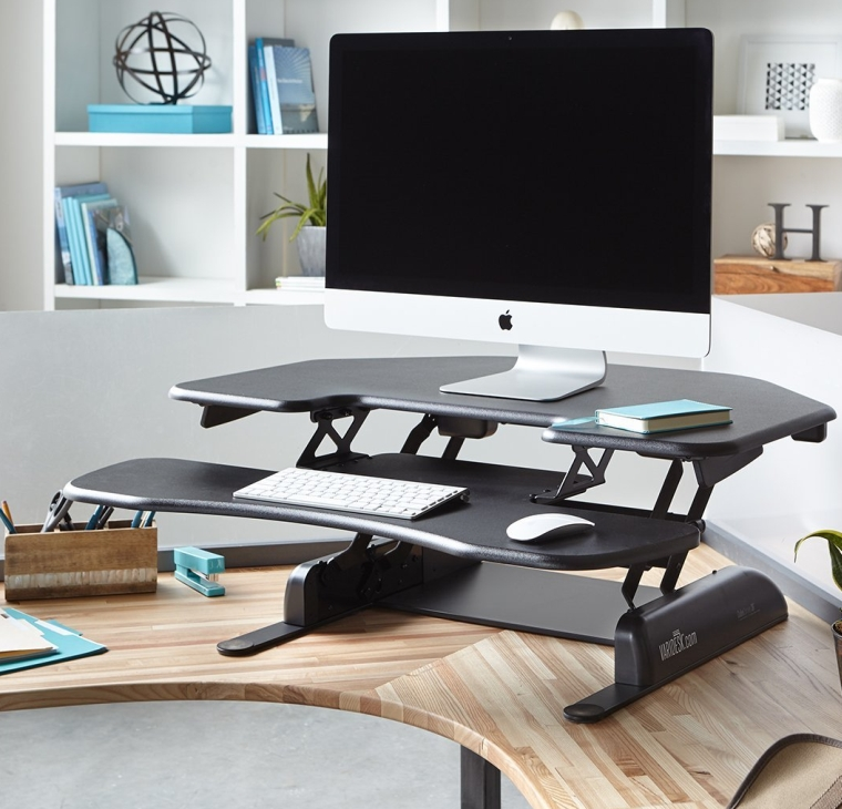 Height-Adjustable Standing Desk for Cubicles