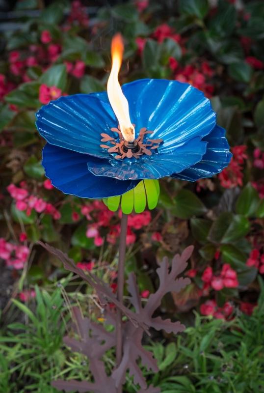 Himalayan Poppy Garden Torch Statue