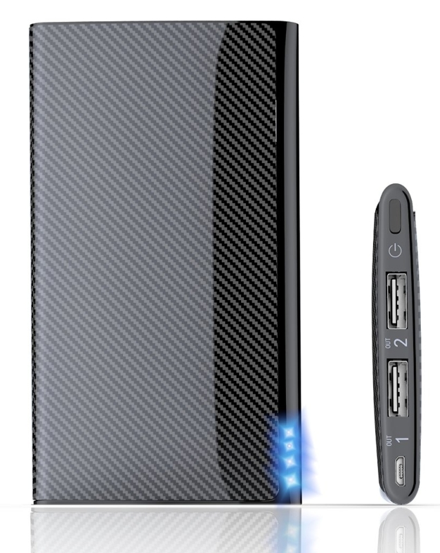Portable Charger, Power Bank, Vomach® 8000mAh 2-Output Fast Charging External Battery Charger