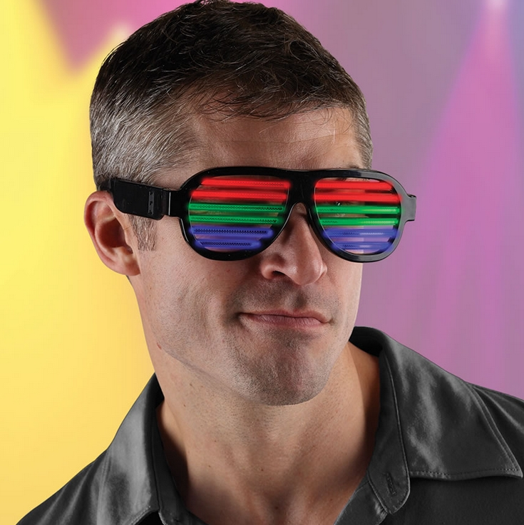 The Sound Pulsing LED Rave Glasses