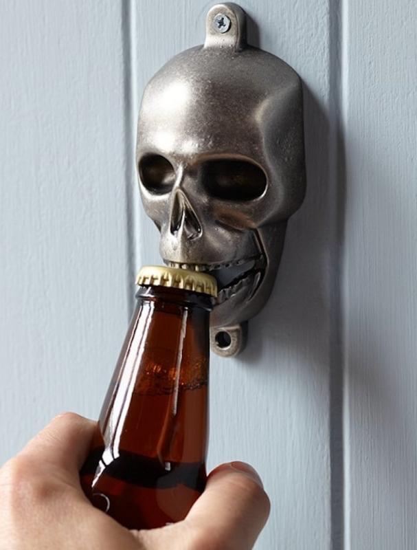 Wall Mount Skull Bottle Opener