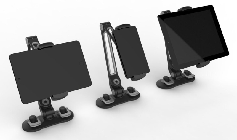 360 Degree Adjustable StandHolder with Suction Cups for Tablets (up to 11 inches) and phones