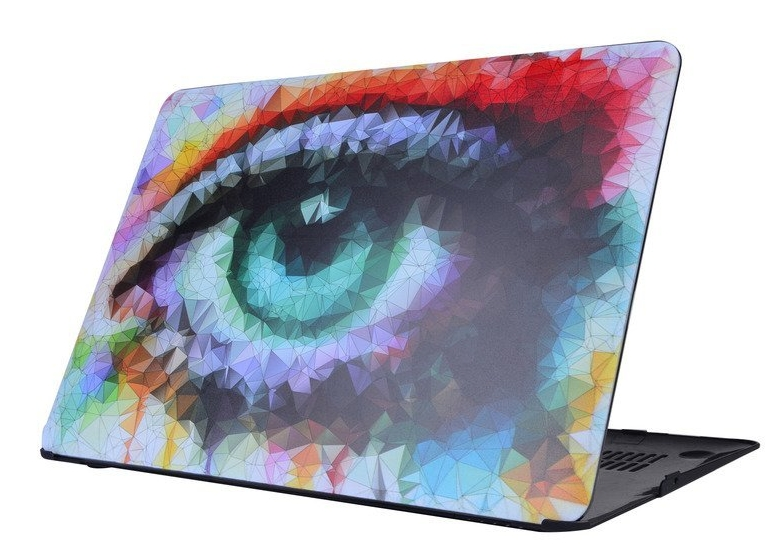 Abstract Colorful Eyes Pattern Polycarbonate (PC) Ultra Slim Hard Case For 11.6-inch Apple MacBook Air