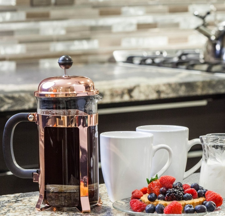 Copper French Coffee Press and Tea Maker