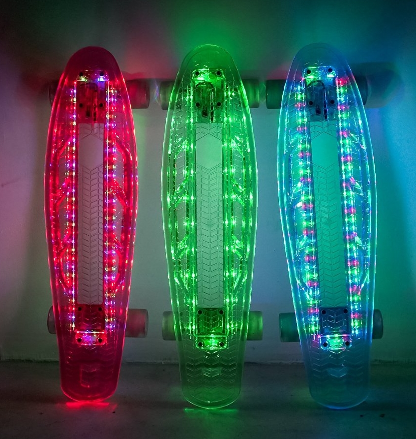 Electric Styles LED Light Up 27 Skateboard