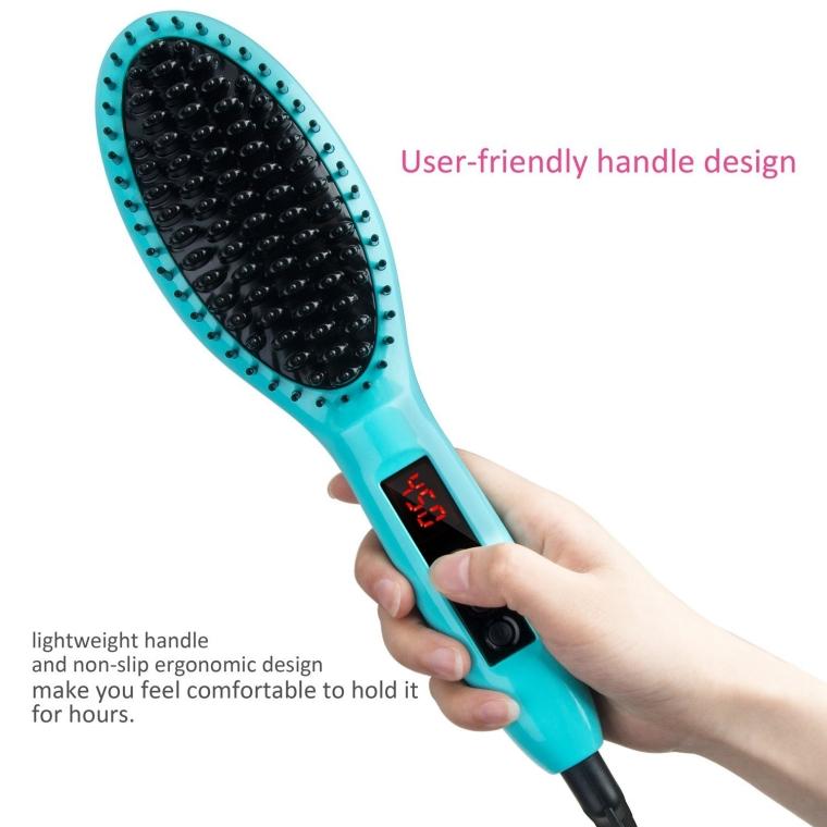 Metal Ceramic Heater Hair Straightening Brush