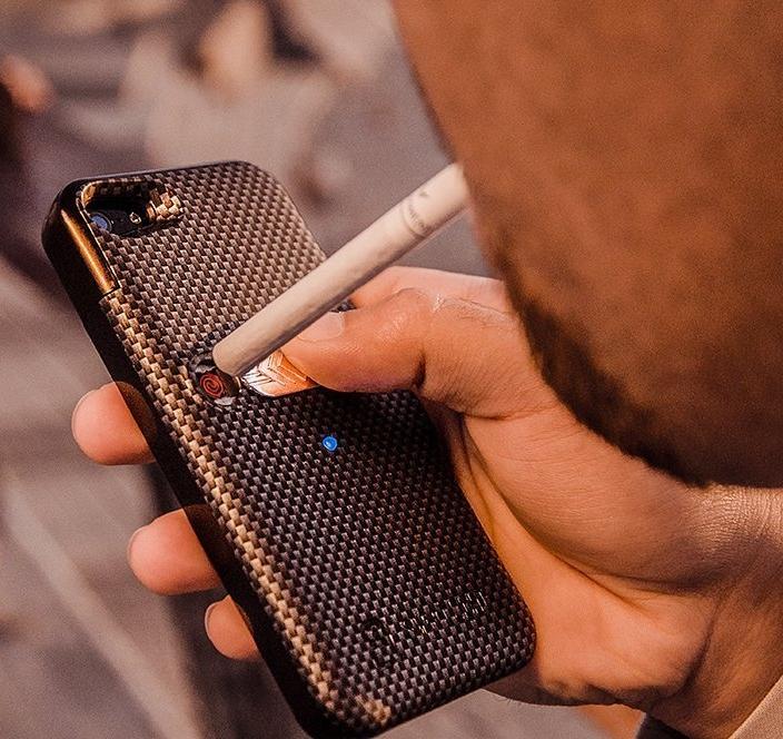 Multifunctional Cigarette Lighter Cover for iPhone 66s Built-in Cigarette Lighter
