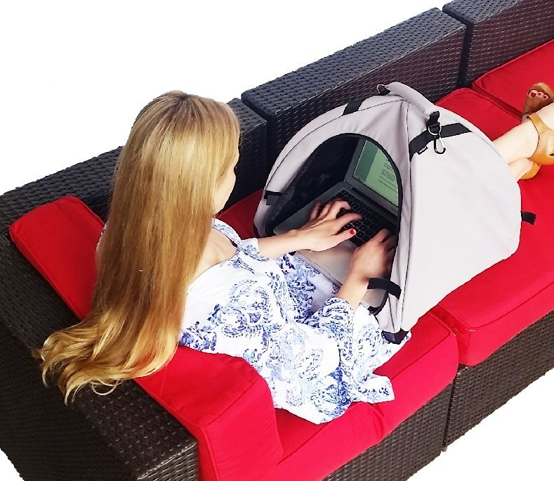 Portable Sun Shade & Weather Protecting Carrying Case for Laptop  Tablet  Cell Phone