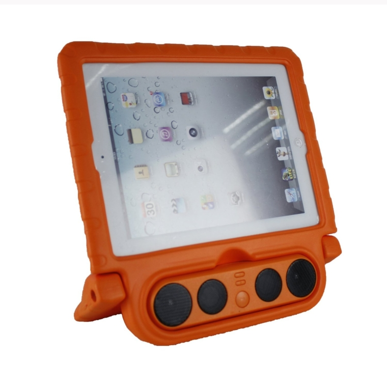 Shockproof Light Weight Protective Case with Portable Wireless Bluetooth Speakers for Apple iPad 234