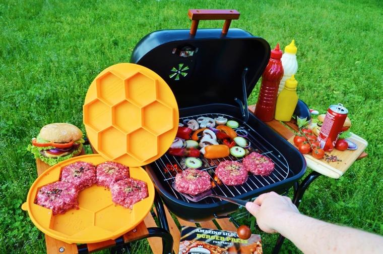 Silicone Burger Press & Freezer Container + Gift Box