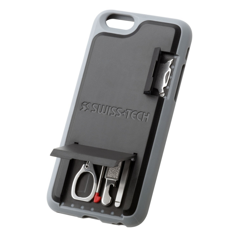Swiss+Tech ST50242 Black iPhone 6 Mobile Smartphone Multitool Case