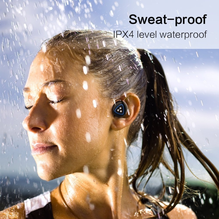 Syllable Truly Wireless Active Noise Cancelling Earbuds Sweatproof earphones with Bluetooth 4.0