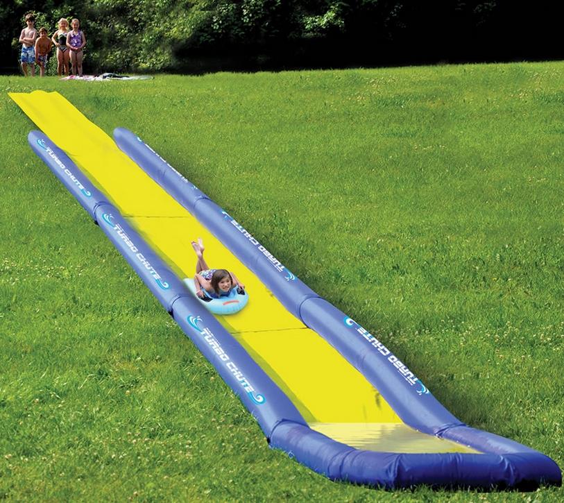 The World's Longest Backyard Water Slide