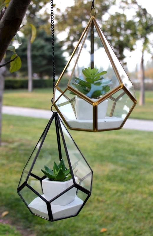 Triangular Geometric Glass Pannel Terrarium