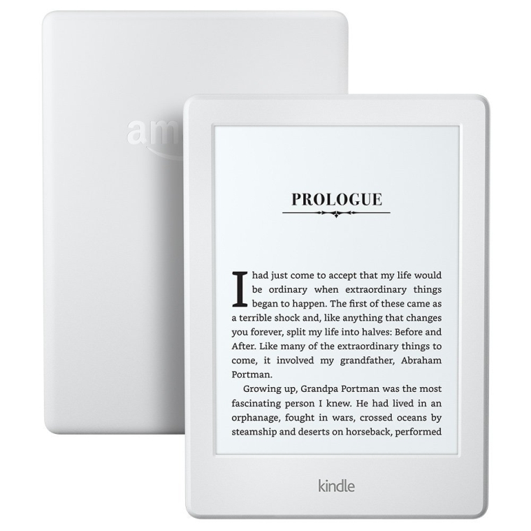indle E-reader - White, 6 Glare-Free Touchscreen Display