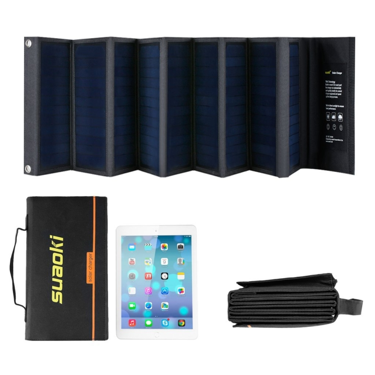 60W Portable Sunpower Mono-Crystalline Folding Solar Panel